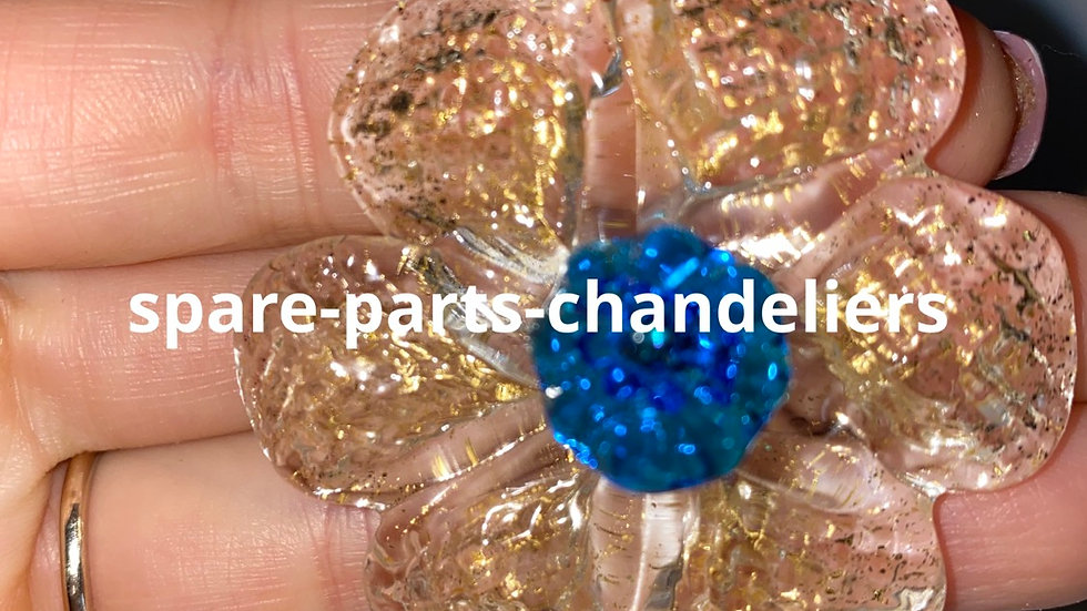 Rosetta with blue nail, replacement in Murano glass