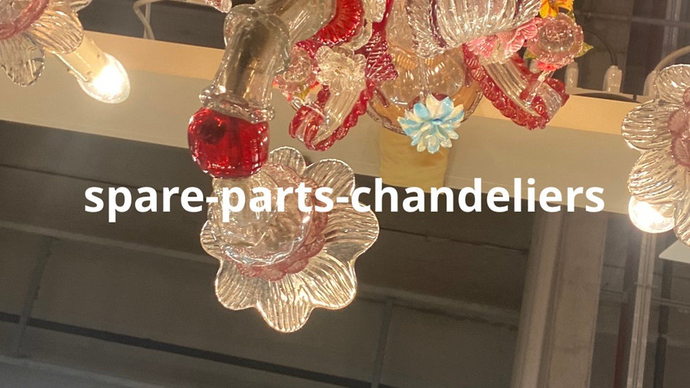 Flower, spare parts for chandeliers