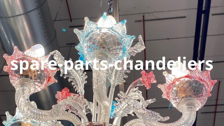 Cup or bobeche, spare parts in Murano blown glass