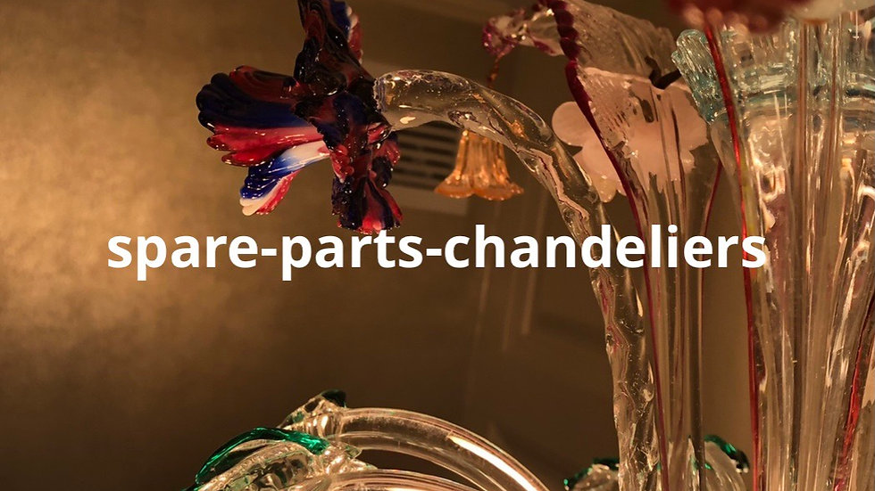 Spare parts for chandeliers in Murano blown glass