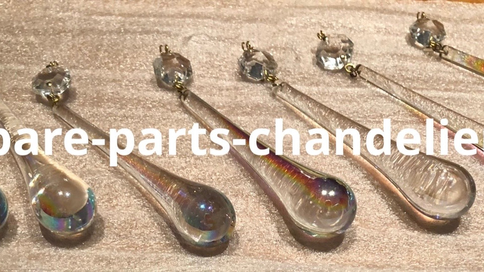 Drops for chandeliers, rainbow effect