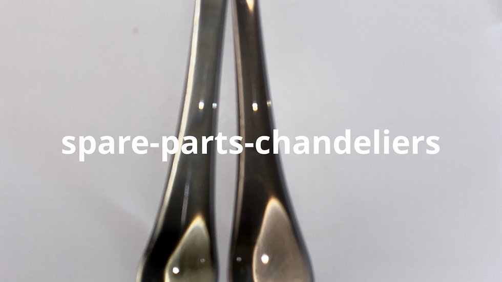 Lot of 2 drops, smoked color, spare parts for chandeliers