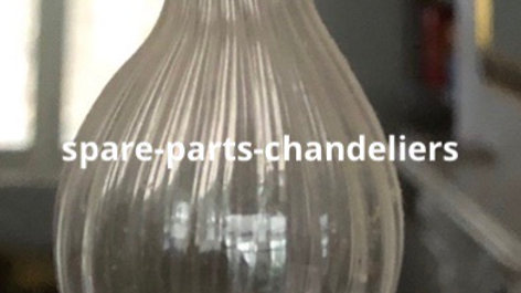 Final or bow, spare parts in Murano blown glass, for chandeliers
