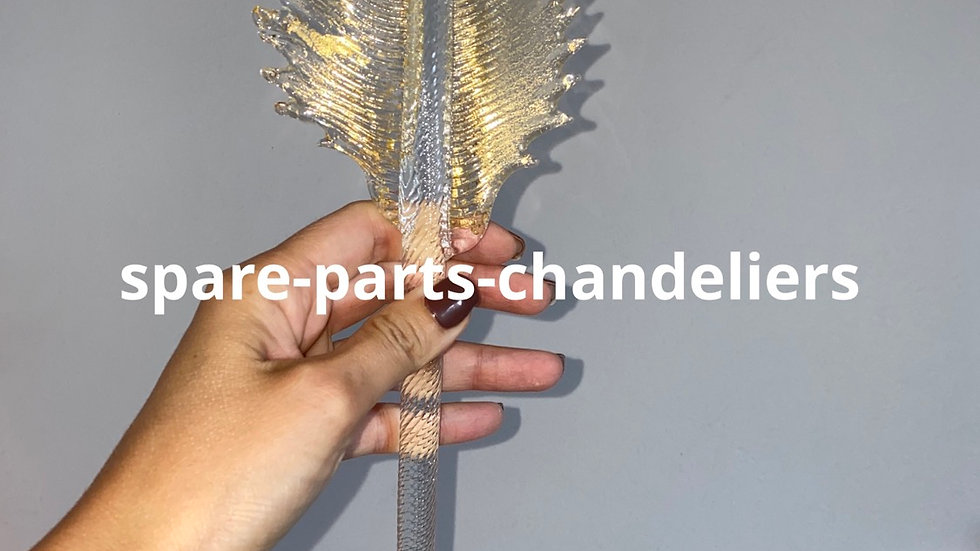 Leaf spare part for chandeliers, gold dust color