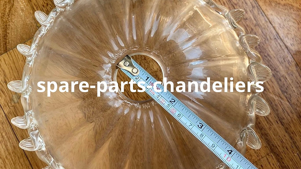 Bobeche or cup, spare part for chandeliers