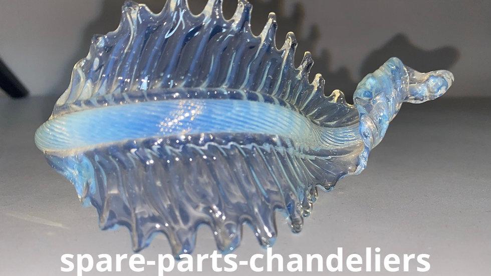 Opaline leaf in Murano blown glass