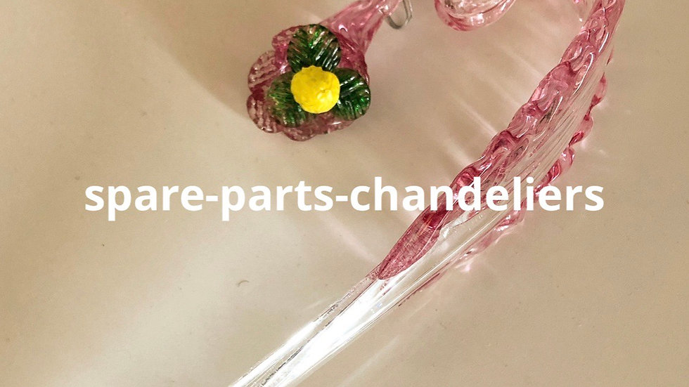 Leaf with pendand, spare parts for chandeliers