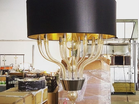 Sconce in Murano blown glass, with lampshade ad with 10 lights