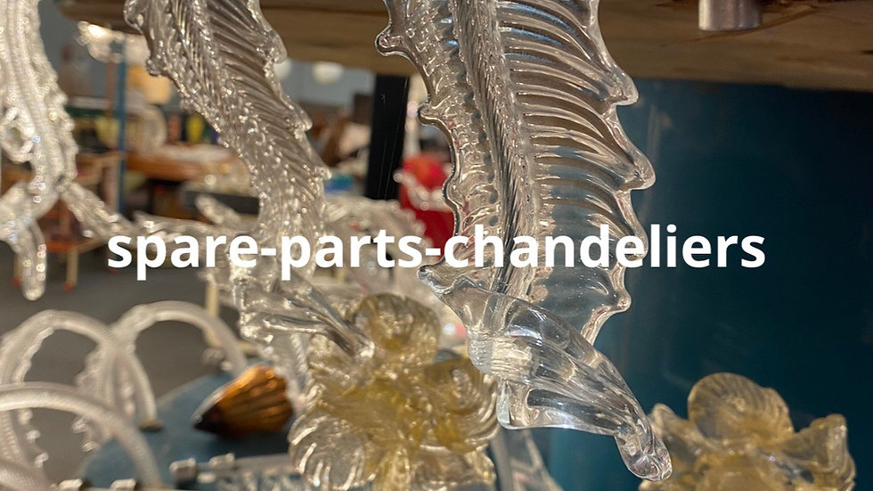 Spare parts in Murano blown glass