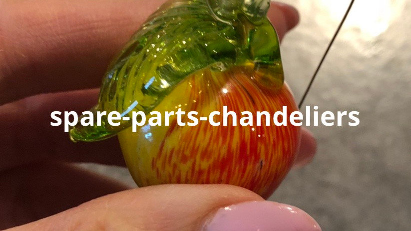 Lot of 5 apples drops, in Murano blown glass