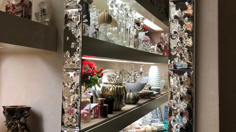 Mirror, in Murano glass and silver