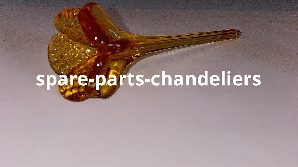 Flower, amber color, spare part for chandeliers