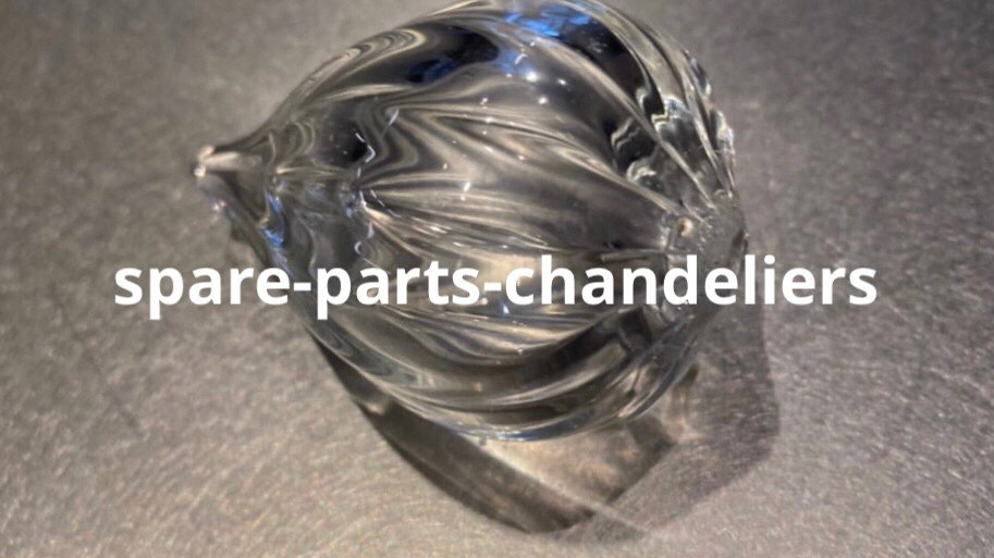 Final drop for chandelier in murano blown glass