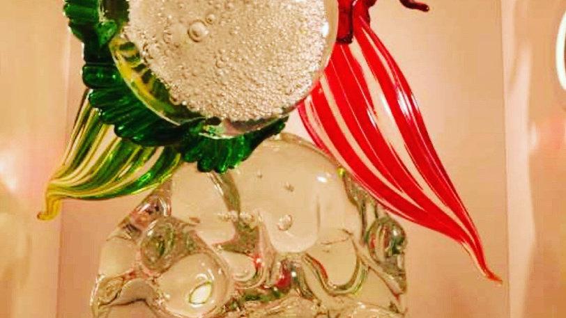 Vase in Murano blown glass