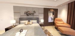 master bedroom Bed wall
