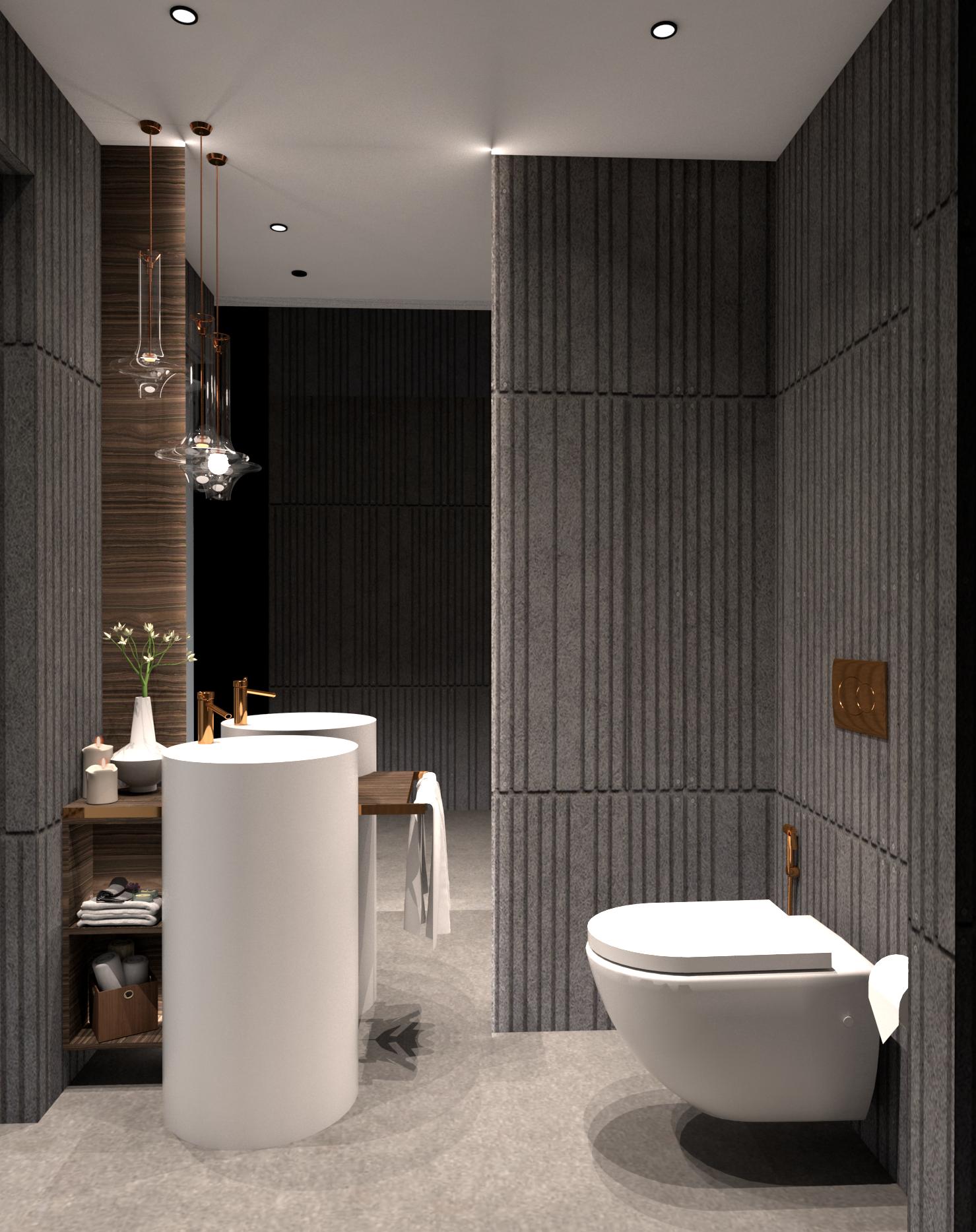 Powder Bathroom 1 (View 2)