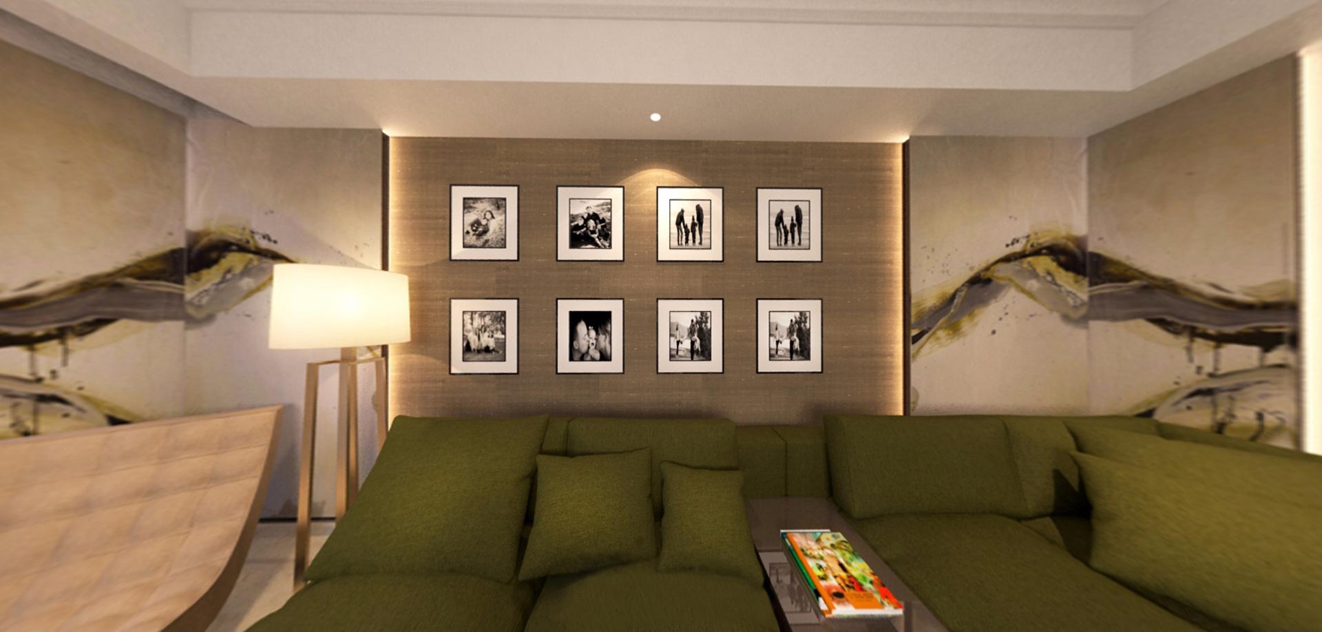 Lounge sofa wall