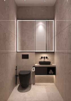 2 BHK Powder Bathroom