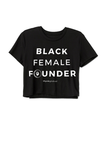 Black Female Founder Crop Top
