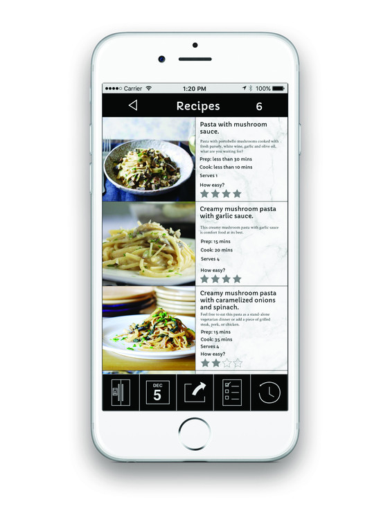 Recipes Screen