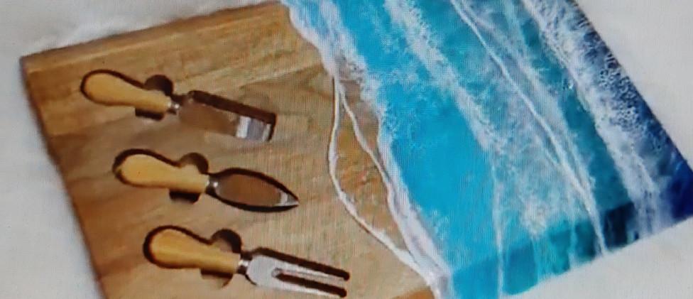 Chopping Chesse platter Ocean Beveled