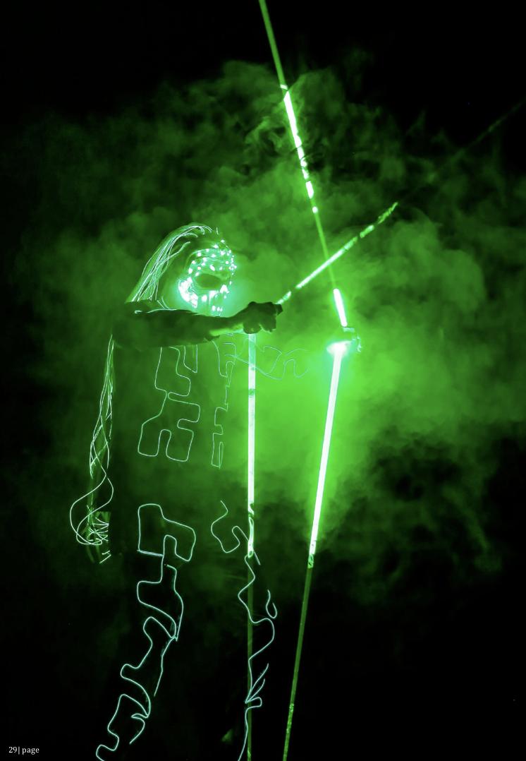 LED GREEN SONIC M MAN