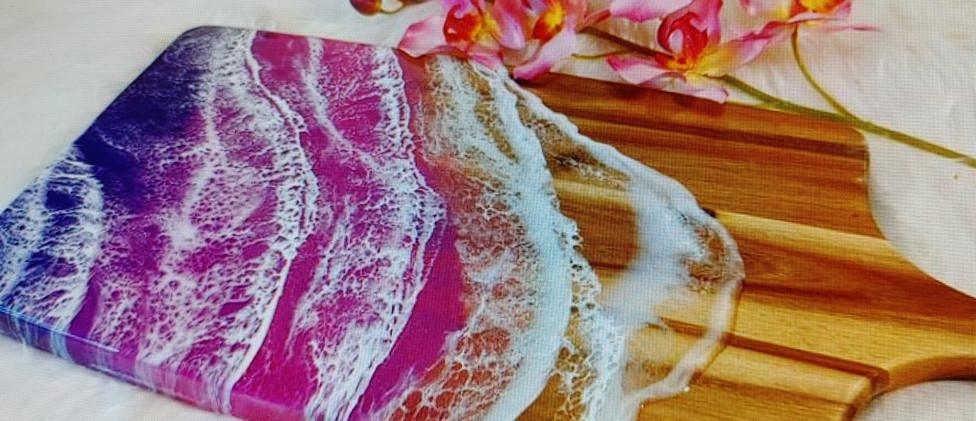 Purple Platters by Olga Sem