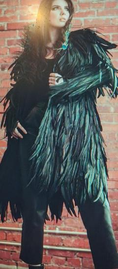 One Of A Kind Custom Order Feather Coat