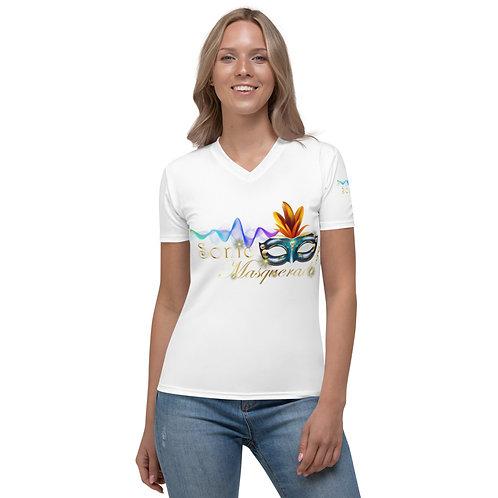 Women's White Sonic Masquerade Shirts