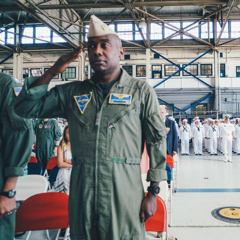 U.S. NAVY CHANGING OF COMMAND