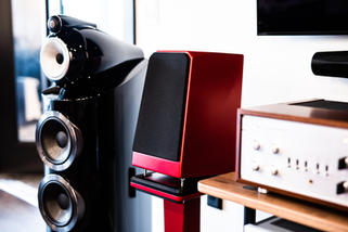 Bowers & Wilkins 803  Wilson Audio Tune Tot with Iso Base  Luxman LX-380 Vacuum Tube Integrated Amplifier