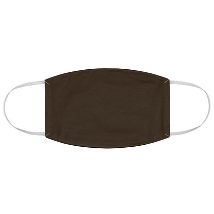 Plain Dark Brown Face Mask