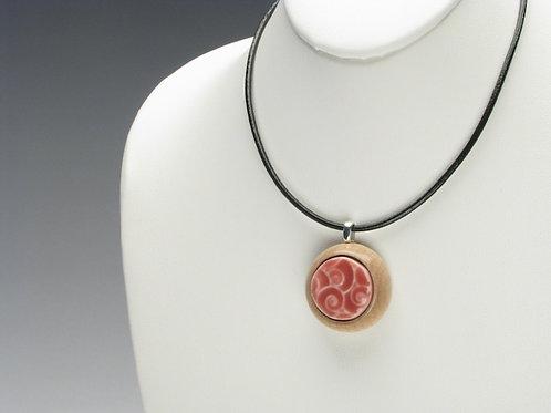 Pink Nautilus Shells Pendant Necklace; PPSN2