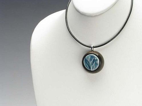 Blue-Green Garden Herb Pendant Necklace; PESD1