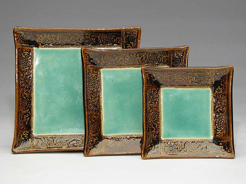 Set of three Bali Collection plates