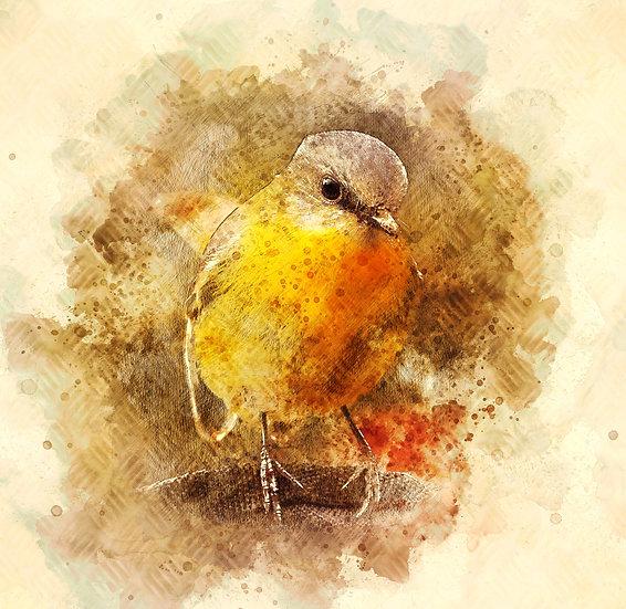 """""""Little Bird"""" Fine Art Print - 12"""" x 12"""""""