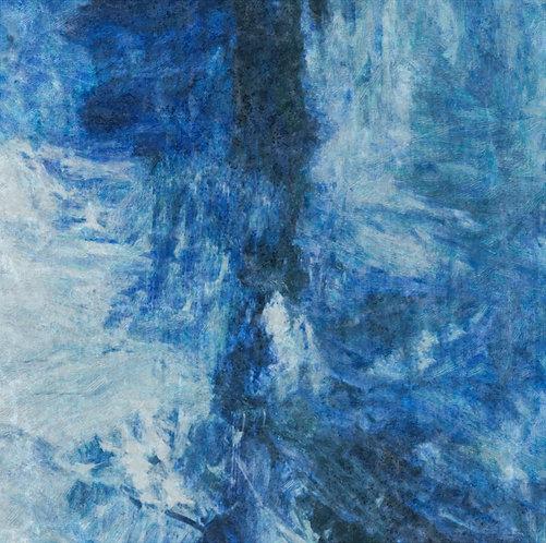 """Distressed Blue Jeans 1"" Fine Art Print"
