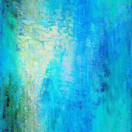 Colorful Blue and Green Undersea Abstract Digital Download