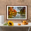 "Thumbnail: ""Lakeside Autumn Trees"" Fine Art Print - 12"" x 16"""