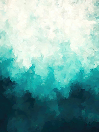 Turquoise Color Gradient Abstract Digital Download