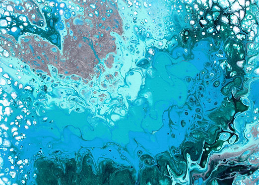 """ACEO/ATC 2.5"""" x 3.5"""" Abstract Print -Approaching Wave"""