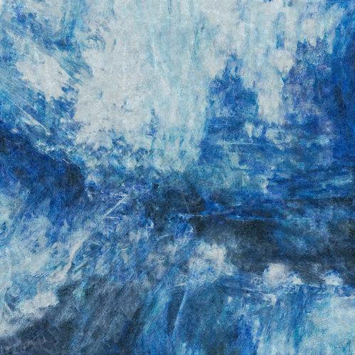 """Distressed Blue Jeans 4"" Fine Art Print"