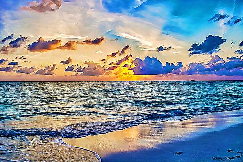 """Azure Sunset"" Fine Art Print"
