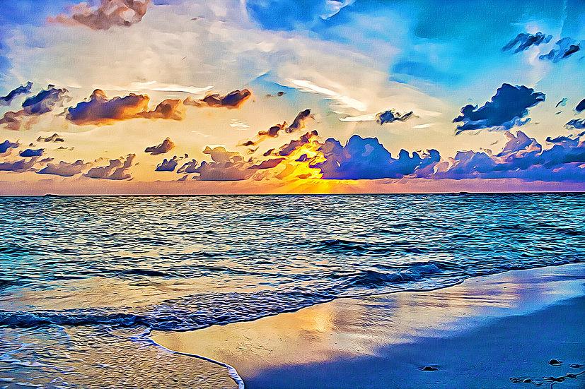 """""""Azure Sunset"""" Fine Art Print - 12"""" x 16"""""""