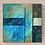 """Thumbnail: 12"""" x 12"""" Original Acrylic Abstract Painting in Blue, Green and Brown"""