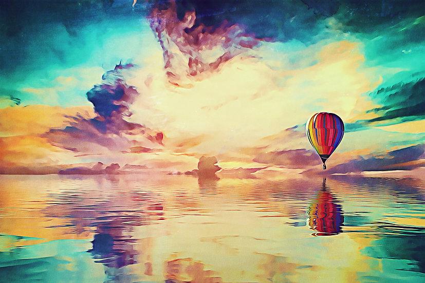 """Floating Away"" Fine Art Print - 12"" x 16"""