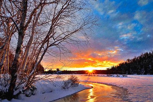 """Winter Twilight"" Fine Art Print"