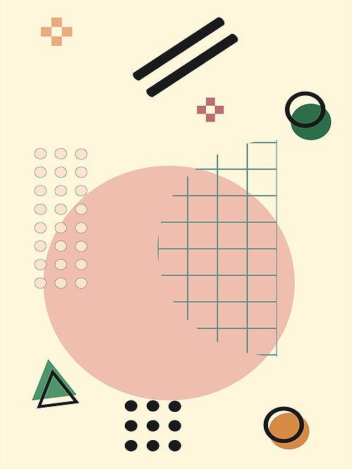 """""""Geometric Arrangement 1"""" Minimalist Fine Art Print"""