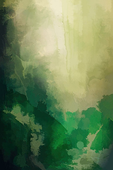 Green Misty Forest Abstract Digital Download