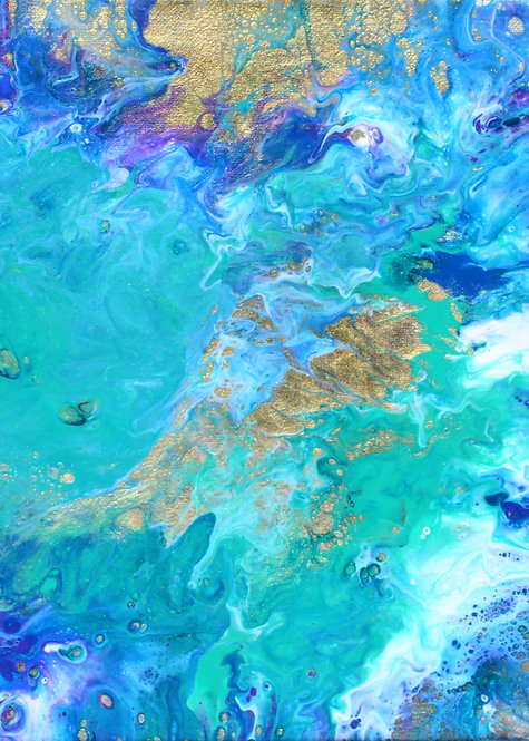 """ACEO/ATC 2.5"""" x 3.5"""" Abstract Print -Beyond the Fay Lands"""